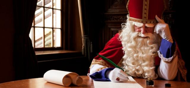 ILLUSTRATIE - Sinterklaas schrijft een gedicht. ANP XTRA ROOS KOOLE